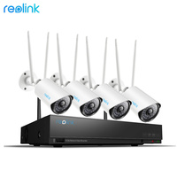 Reolink 1080P Wireless Security Camera System 4Ch WiFi NVR&4 WiFi Cameras Outdoor Video Surveillance 1TB HDD RLK4 210WB4