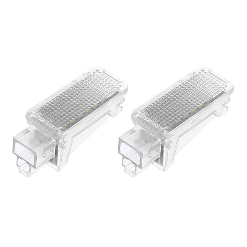 1 Pair LED Foot Courtesy Lights No OBC Error 12V 6000K Car Interior Welcome Lights for Audi A2 A3 A4 Q5.Q7 S5 VW Beetle Bora