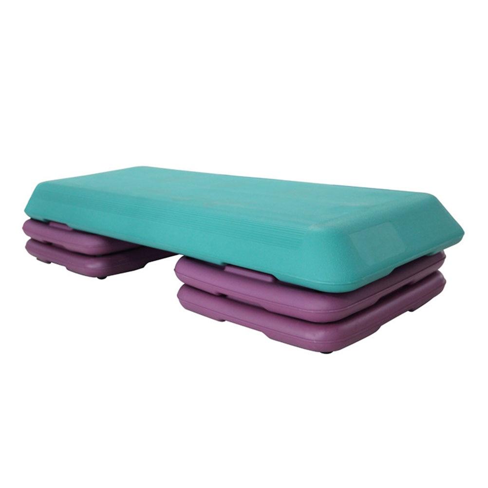 110 41 20cm Fitness Aerobic Step Adjustable Exercise Stepper Risers Blue Purple