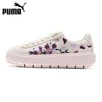 Nova chegada original puma plataforma traço flowery sapatos de skate feminino tênis
