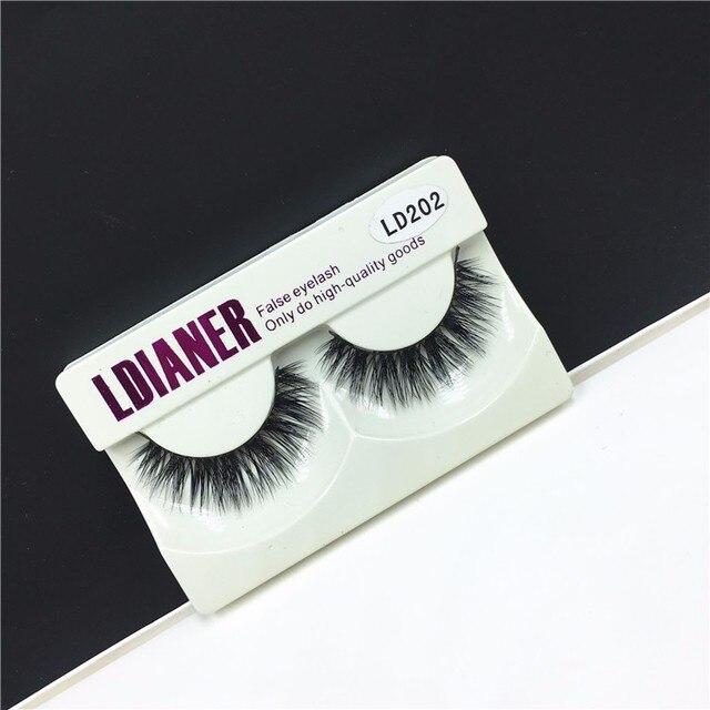 1 Pair New Mink Hair Natural Long Thick False Fake Eyelashes Eye Lashes Makeup Extension Beauty Tool 1