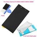 5.0 дюймов Черный Для Sony Xperia Z5 E6603 E6633 E6653 E6683 ЖК-Дисплей Сенсорный Экран Digitizer Ассамблеи + Передняя И Черный Клей + Инструменты