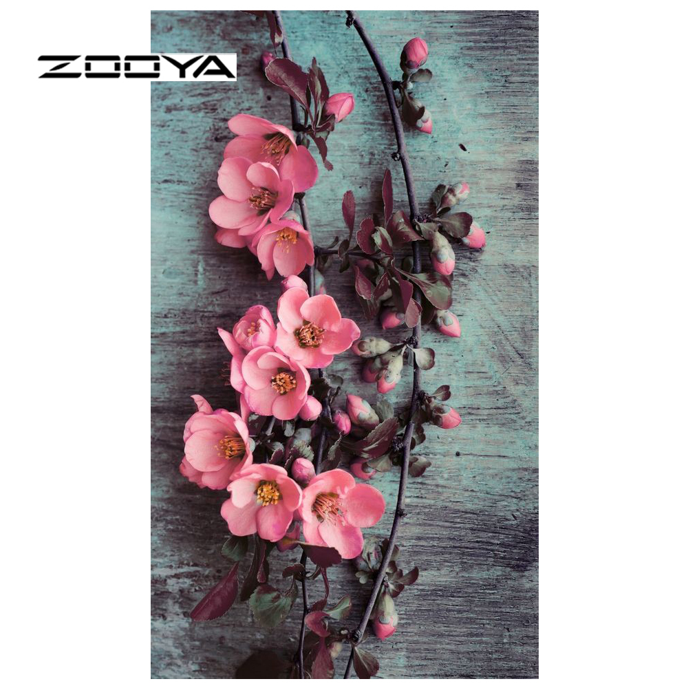 ZOOYA Diamond Embroidery Sale Full Diamond Painting Flowers Needlework DIY Diamond Mosaic Picture of Rhinestones 3D Decor RF1645