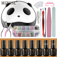 MIZHSE Kit Acrilico Nails Gel Set With UV Lamp Manicure Tool Kit Esmalte Gel Polish Nail Clippers All For Nails And Monikure