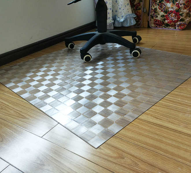 2018 New Transparent Wood Floor Protection Mat Pvc Plastic Floor