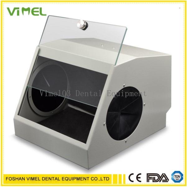 Dental Grinding Polishing Box Lapping Protector Sandblasting Dust proof Case With LED Light