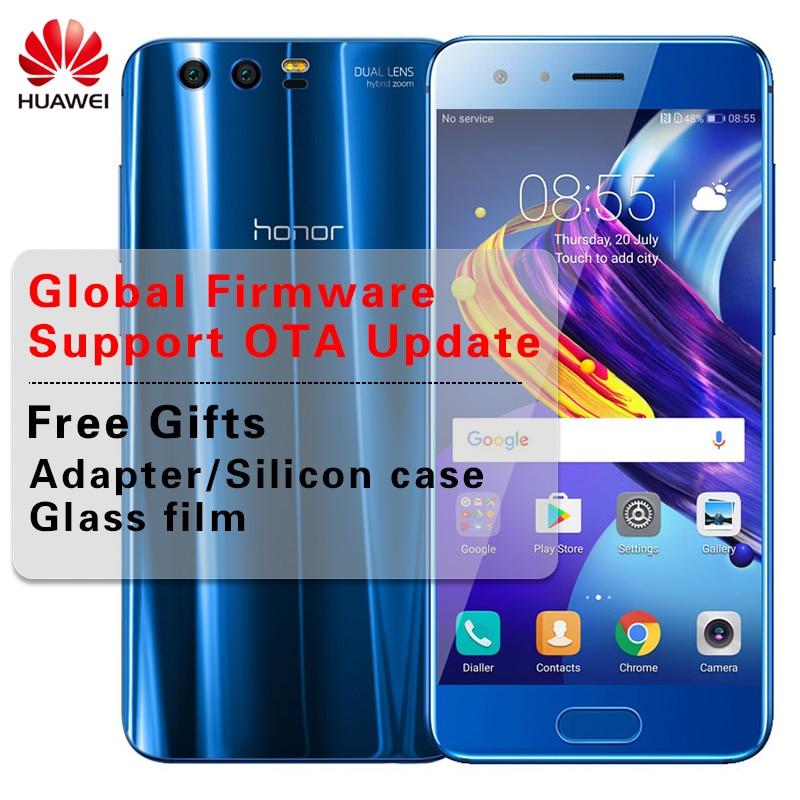 "Международная прошивка 5,15 ""huawei Honor 9 4 ГБ Оперативная память 64 ГБ Встроенная память Dual SIM восьмиядерный смартфон Android 7,0 Kirin960 2 задние камеры"