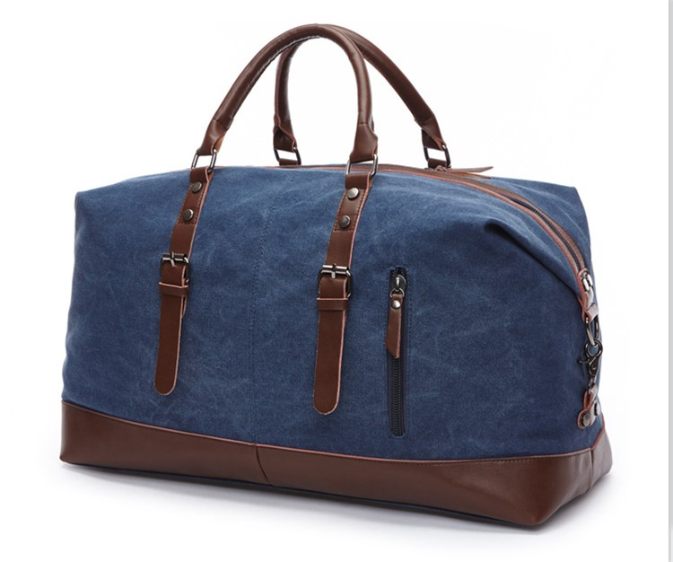 Large Capacity Outdoor Men Canvas Gym Travel Duffel Bag High Quality Casual Crossbody Shoulder Tote Travel Bags Luggage(13)