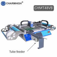 2019 جديد النسخة CHMT48VB SMT ماكينة استبدال المكونات باستخدام تقنية التركيب السطحي مع قضيب مربع + وحدة تغذية هزازة ، دفعة إنتاج ، Charmhigh