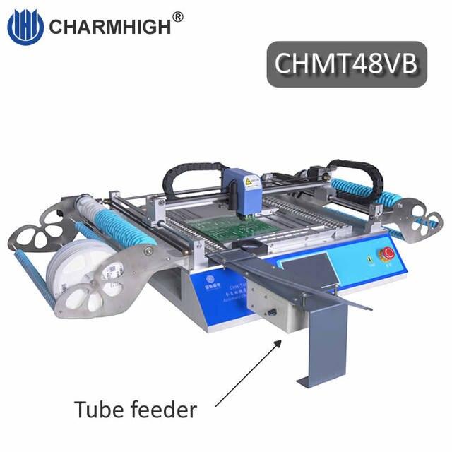 2019 nouvelle version CHMT48VB SMT Machine de sélection et de placement avec rail carré + chargeur de vibrations, production par lots, Charmhigh