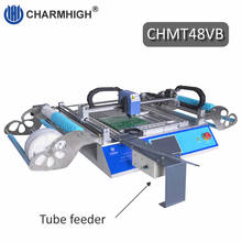 2019 yeni sürüm CHMT48VB SMT yakala ve yerleştir makinesi ile kare ray + titreşim besleyici, toplu üretim, Charmhigh