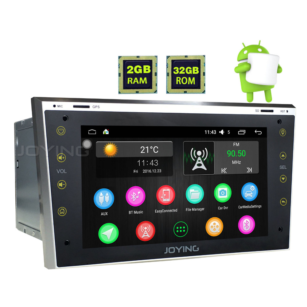 JOYING 2GB 2Din 7 touch screen Android 6 0 font b Car b font Radio For