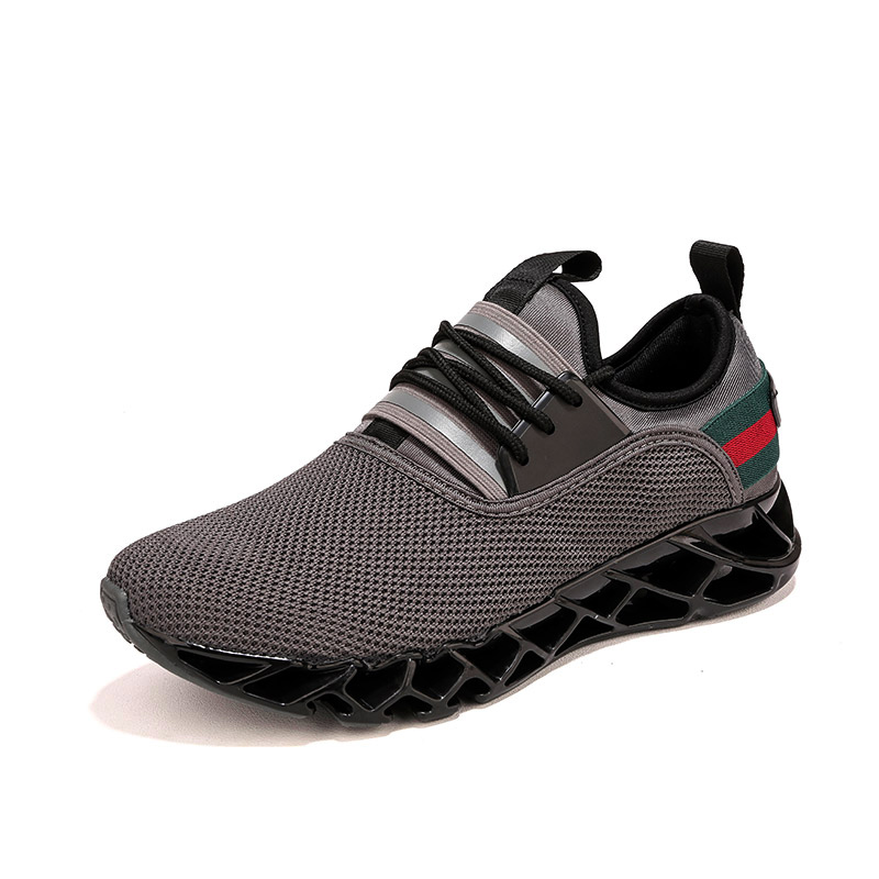Breathable Sneakers Lace Up Comfortable Men's Shoes 2