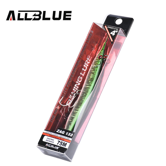 ALLBLUE Needlefish Lure Needle Stick Fishing Lure 133mm/30g Sinking Pencil 3D Eyes Artificial Bait Sea Bass Lures 5