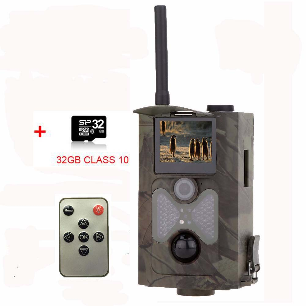 32GB Hunting Camera MMS SMTP GPRS 3G 16MP 940NM 1080P HD Digital Infrared Scouting Trail Camera HC550G hc 500m gprs mms hunting camera email notification scouting digital infrared trail camera 12mp hd 2 0 lcd video cameras