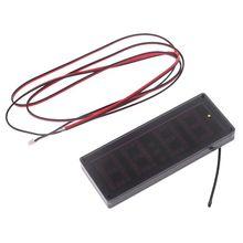 Car LED Dot Matrix Clock Temperature Voltage Display 4.0 ~ 25V Multi-function 3in1 Time Thermometer Voltmeter