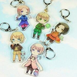 Image 1 - 1 Pc Nieuwe Mooie Anime Axis Voeding Hetalia Acryl Sleutelhangers Tas Hanger Sleutelhangers Cosplay Figuur Speelgoed Voor Kinderen Gift