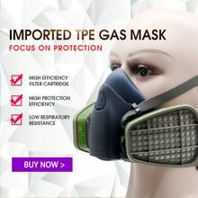 3 In 1 Head-mounted Adjustable High-grade Protective Gas Mask Respirator Dust Mask Industrial Refine Mine Spray Chemical Goggle goodal refine modeling mask купить в москве
