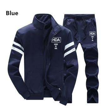 цена на 2019 New Men's Casual Sportwear Suit Autumn Spring Designer Embroidery Male Baseball Jersey Suit For Men Leisure Suits