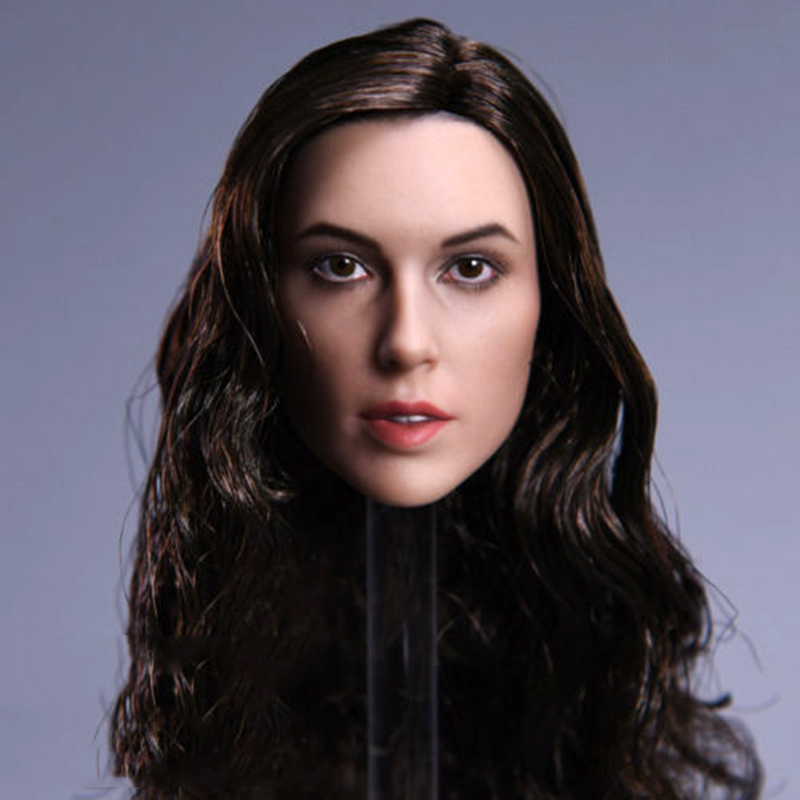 1 6 Collection Female JX 09 Wonder Woman Gal Gadot Head Carved Model black Type Head Model brown hair F 12 39 39 Action Figure Body in Action amp Toy Figures from Toys amp Hobbies