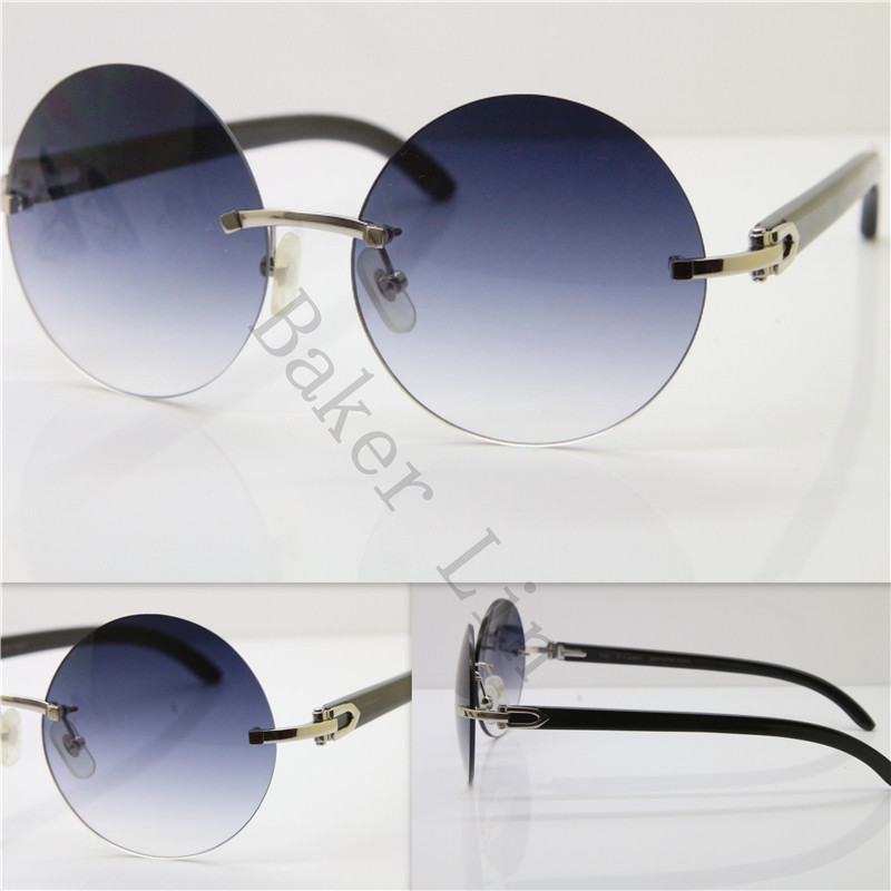a7887921c5 ... Cartier 3524012 Rimless Black Buffalo Horn Sunglasses in Gold Brown  Lens1 ...