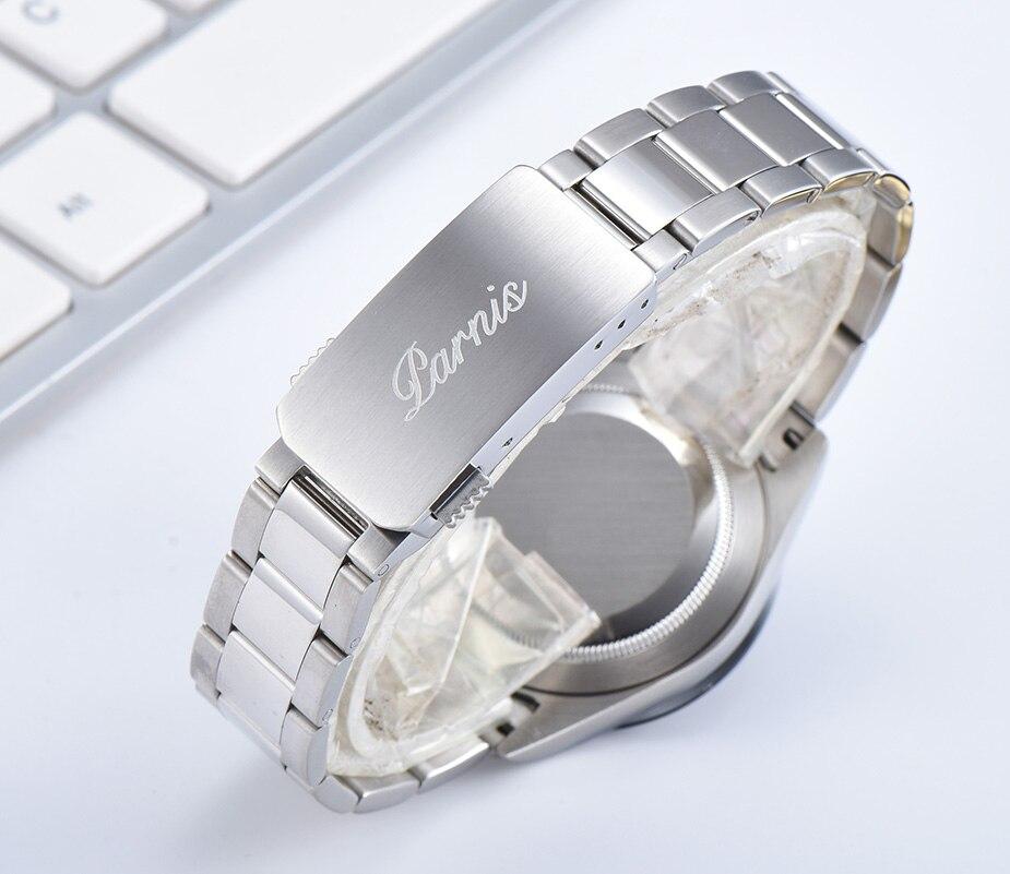 Parnis Quartz chronographe montre hommes Top marque de luxe pilote affaires étanche verre saphir montre pour hommes Relogio Masculino - 4
