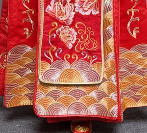 Image 5 - ROSSO Più Il Formato 4XL 5XL 6XL Vestito Da Sposa Abito Da Sposa Retro Vestito Cheongsam Cinese Vestito La Sposa Brindisi abito Lungo sezione