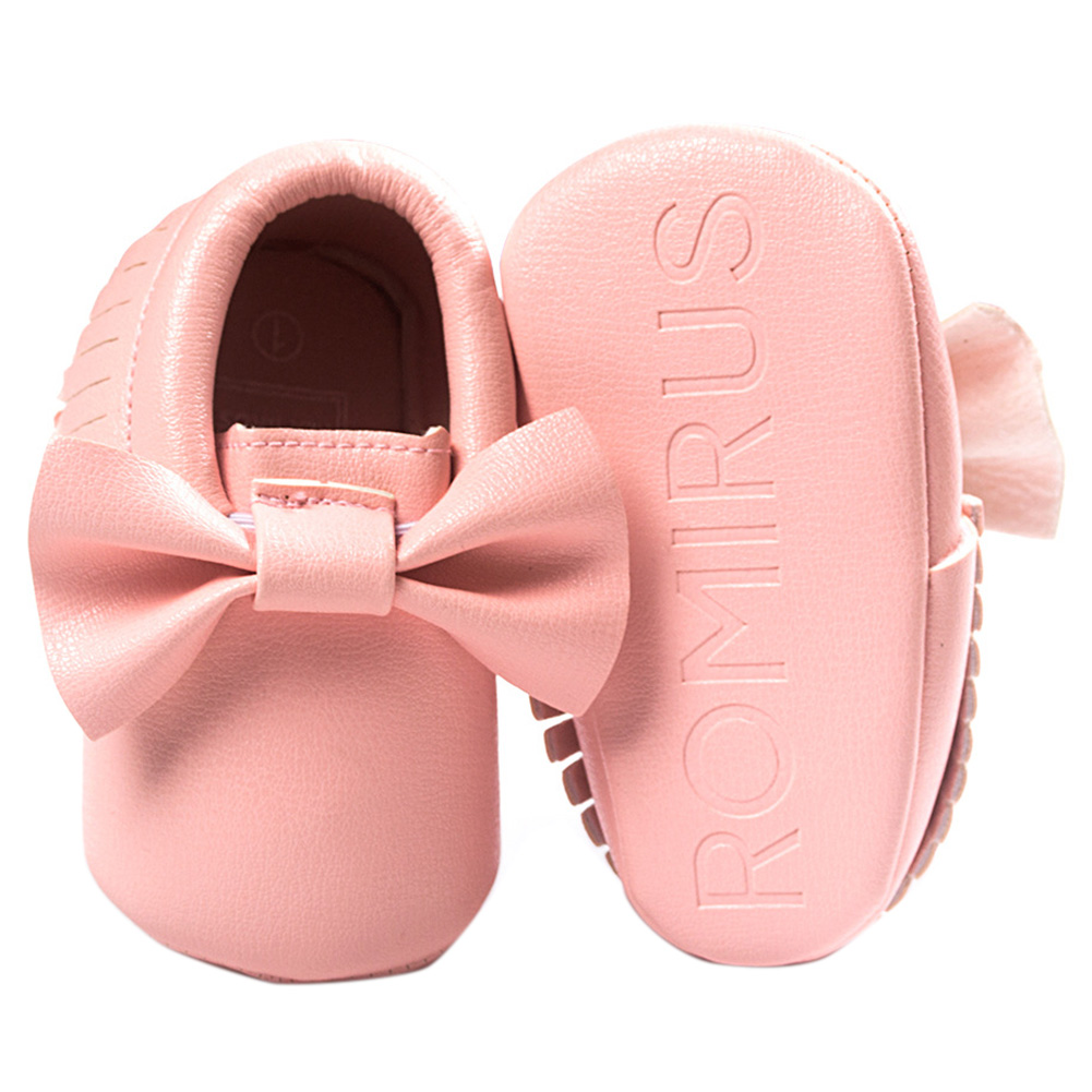 ABWE Best Sale ROMIRUS Leather Newborn Baby Boy Girl Baby Moccasins Soft Moccs Shoes Fringe Soft Soled Non-slip Footwear Hot p