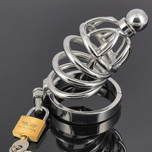 Short size Stainless steel CB6000S chastity device male cage penis plug Urethral sound tube probe bondage belt sex toy