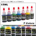 JX23XS2 Хао Пигмент Татуировки 7 Цветов Полный Набор 15 мл/бутылка Чернила Татуировки для Боди-Арт Татуировка Поставки