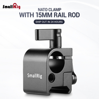 SmallRig SWAT Nato Rail with 15mm Rod Clamp Aluminum Camera Rig Quick Release for Monitor viewfinder attach 1254