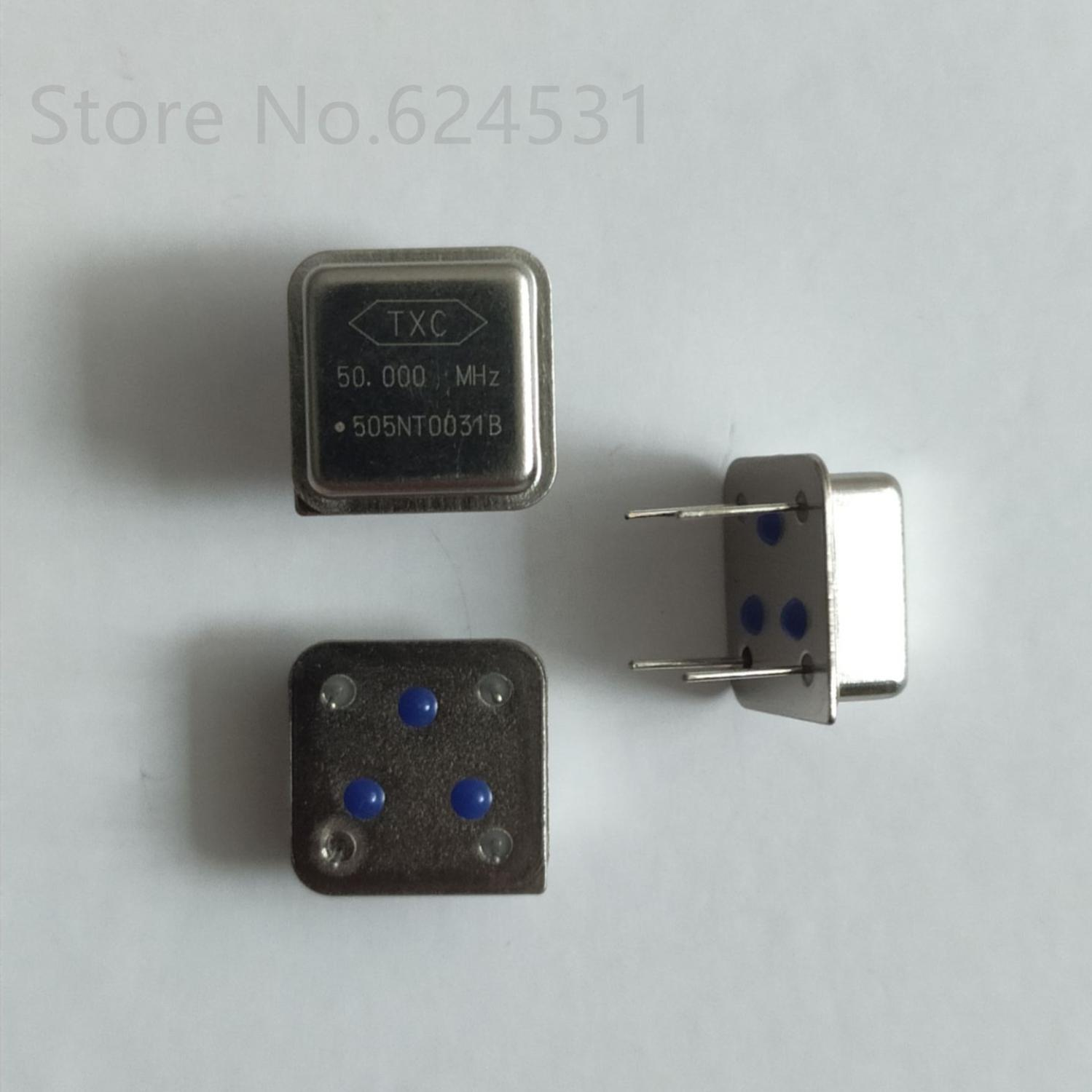 10pcs In-line Active Crystal Oscillator Clock Square Half Size DIP-4 OSC 50MHZ 50.000MHZ 50M
