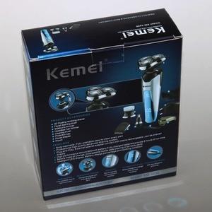 Image 5 - プロ 3 刃シェーバーセット充電式電気シェーバー男性のひげシェービングマシン電気かみそり洗える + 3 アクセサリー