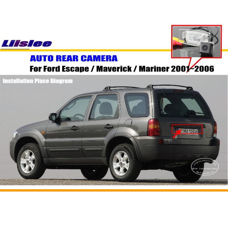 Liislee Voiture Caméra Arrière/Caméra de Recul Pour Ford Escape/Maverick/Mariner 2001 ~ 2006/Plaque D'immatriculation Lampe OEM/Nuit Vision