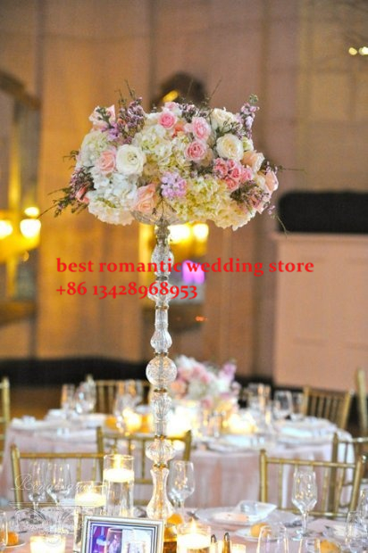20pcs Top Grade Acrylic Crystal Wedding Centerpiece With Candle Holder Road Lead Column Pillars 100cm Tall In Holders From Home