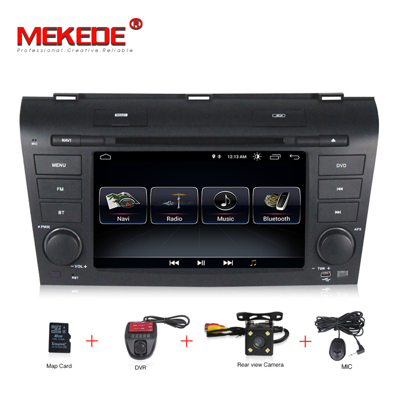 Free shipping Android 8.0 2 din AutoRadio Car DVD Stereo Player radio audio GPS for MAZDA3 MAZDA 3 2004 2005 2006 2007 2008 2009