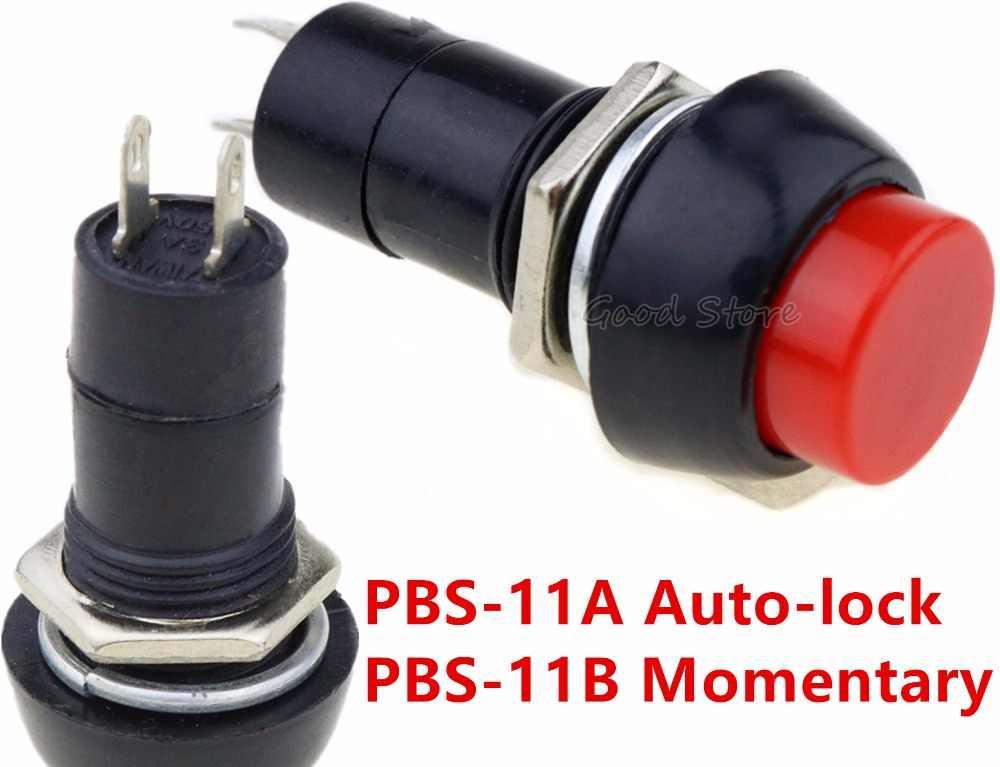 1 個 12 ミリメートル赤 PBS-11A PBS-11B プッシュボタンスイッチ自動ロック/モーメンタリー DIY スイッチ電子スイッチ部品アクセサリー