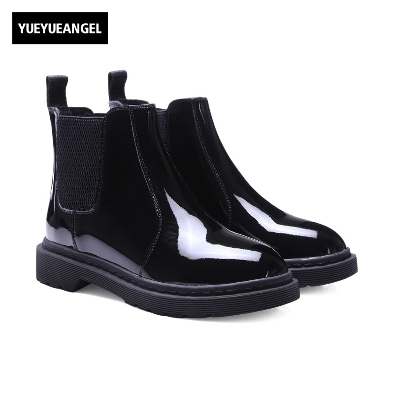 Genuine Leather Womens Boots New Winter Fashion Shoes European Star Style Female Warm Shoes Chelsea Boots Round Toe Slip On farvarwo formal retro buckle chelsea boots mens genuine leather flat round toe ankle slip on boot black kanye west winter shoes