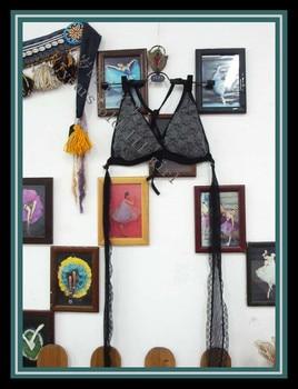 цена на Lace Tribal Belly Dance bra Top halter neck top, gothic top Gypsy Bohemian top DJ69