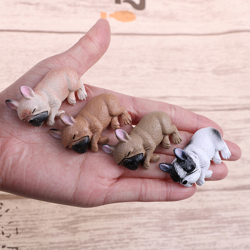 French Bulldog Sleepy Corgis Dog Toys Action Figures Landscape Decor Animals Dolls Kids Gifts PVC Model Toy