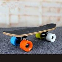 Portable Mini Skateboard 9 Layer Maple Skate Peny Board Fish Plate Brush Street Deck Four Wheels