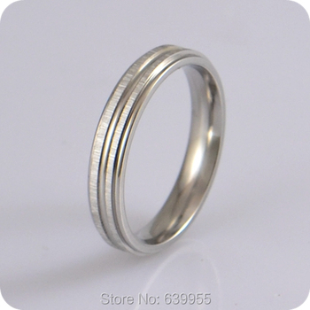 5pc 4mm Engagement Wedding Ring Enragement Ring for Men Women Couple Rings Silver Comfort Fit Stainless Steel Rings TOP Quality image