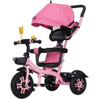 Swivel Seat Baby Tricycle Bike Children Bicycle Stroller Trolley Three 3 Wheels Baby Carriage Child Pram Buggy Pushchair 6 M~6 Y