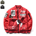 2017 улица Граффити рок-н-ролл бейсбол Пальто Классический MA1 пилот летные куртки Бомбардировщика для мужчин женщины пара куртка Верхняя Одежда