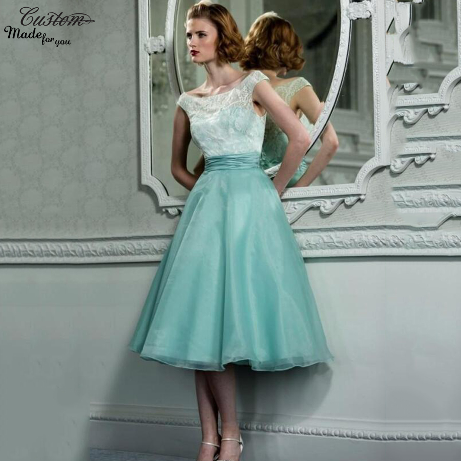 Compare prices on vintage tea mint online shoppingbuy low price vintage 1950s prom dresses cap sleeves tea length lace organza mint green masquerade formal party gowns ombrellifo Gallery