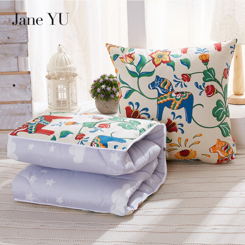JaneYU 100*150cm Summer Quilt Office Cushion otton Linen ...