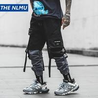 Hip Hop Pencil Pants Men Military Cargo Pants Streetwear Men Ankle Length Pants 2019 Spring Mens Tactics Pant Ribbon HW124