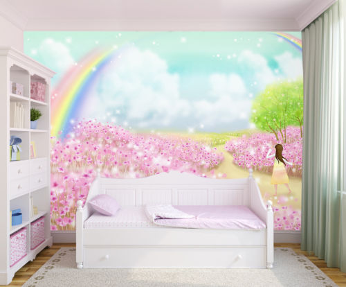 [Self-Adhesive] 3D Rainbow Children 133 Wall Paper mural Wall Print Decal Wall Murals