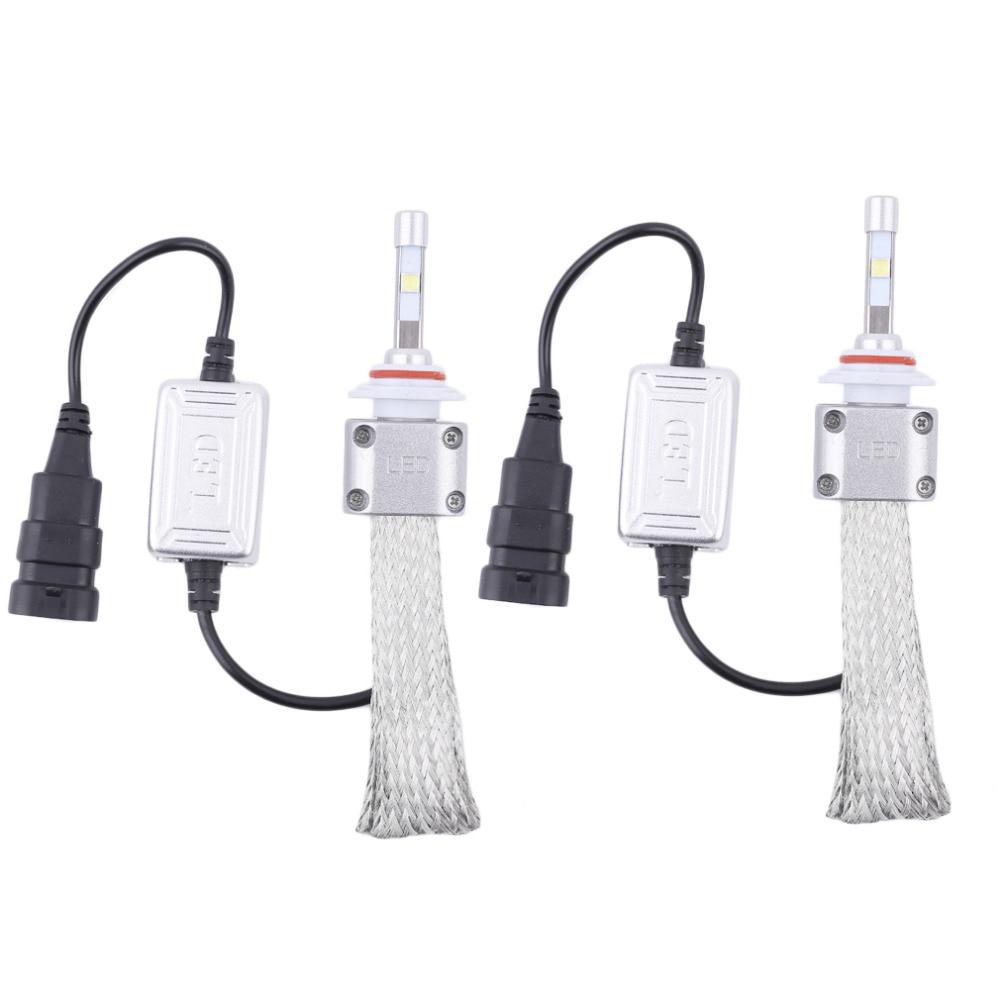 1 пара А8 9006 Автомобильный светодиодный фары головного света лампы заменить Ксеноновые фары 5500LM 12В-36В 120 Вт 6000K светодиодный белый свет