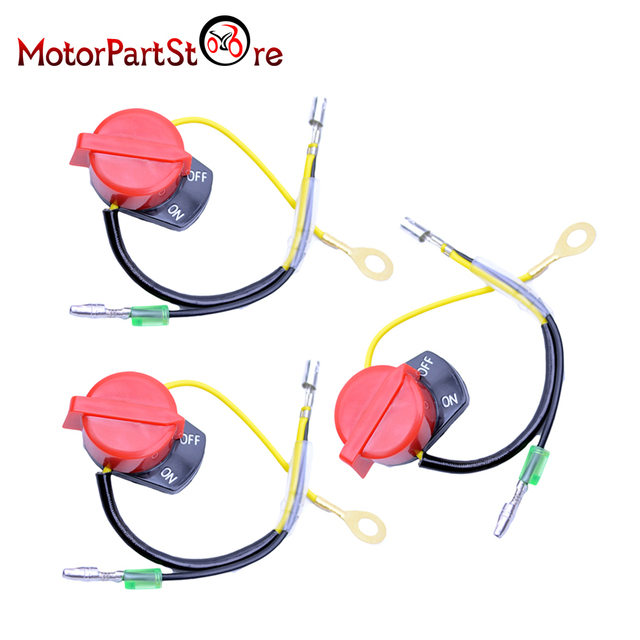 A Quality 3Pcs On Off Engine Stop Switch Control Double Cable for